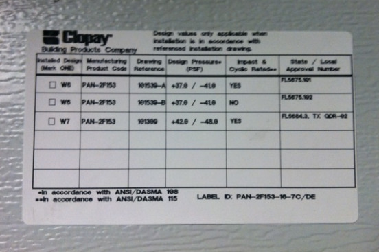 Hurricane Garage Clopay Sticker  sc 1 st  D and D Garage Doors & Want to know if you have a Hurricane Rated Garage Door? - D and D ...