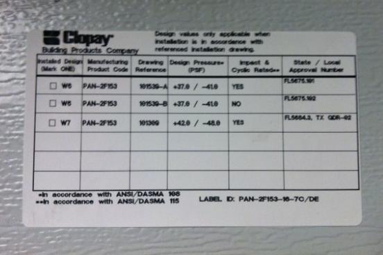 Hurricane Garage Clopay Sticker
